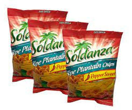Soldanza Ripe Plantain Pepper  Chips- bundle of 3 (42g)