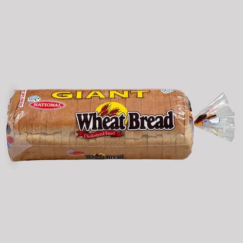National Bakery Giant Whole Wheat Sliced Hardough Bread-32oz