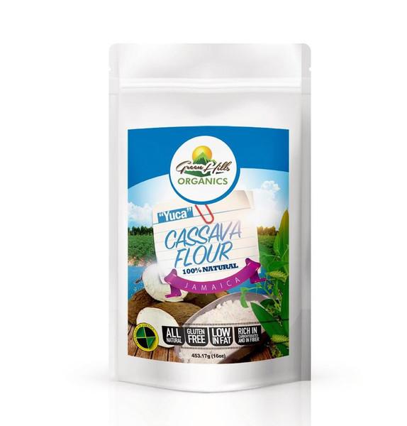 Green Hills Organics 100% Natural Jamaican Cassava Flour (Yuca)-14oz