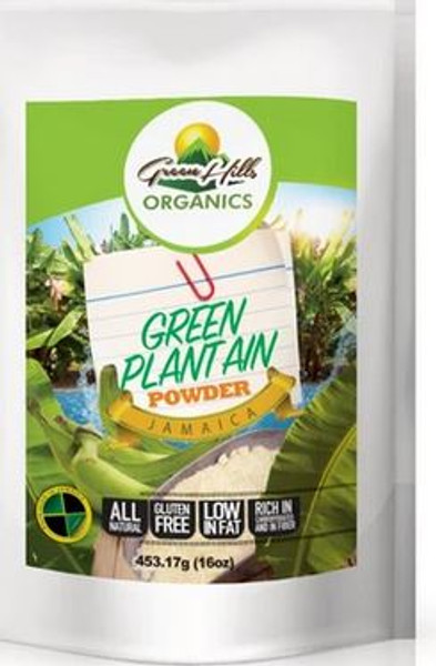 Green Hills Organics Jamaican Green Plantain Powder-16oz