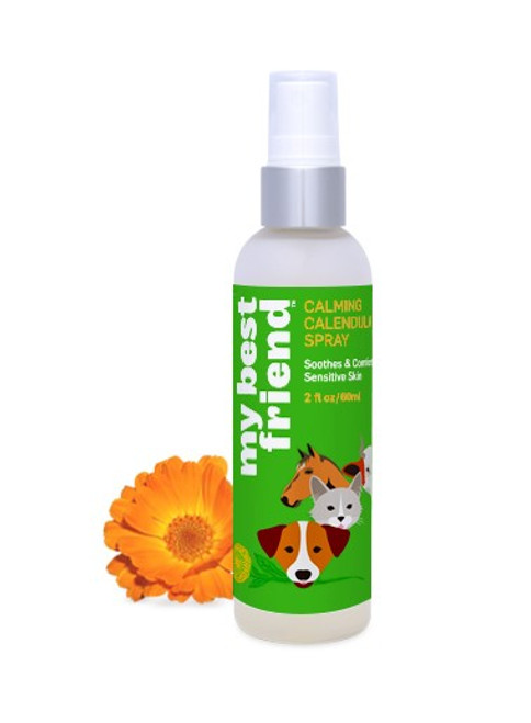 My Best Friend Calming Calendula Animal Spray for hot spots, burns, insect bites and skin rash.