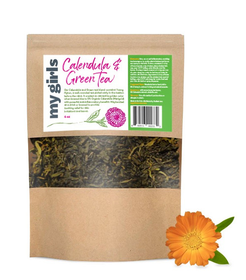 Calendula and green tea herbal blend