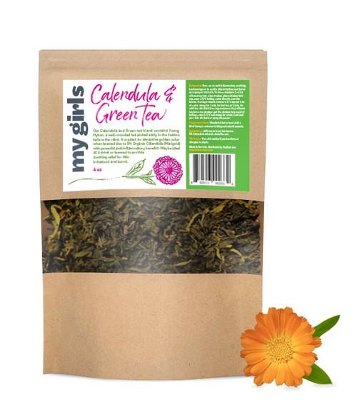 Calendula and green tea herbal blend