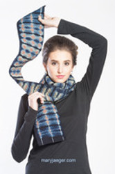 Quilted Tiger Scarves: Layered and Wrapped