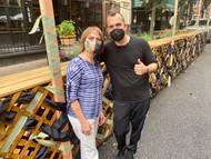 Neighborhood Curbside Canvas Project: DREAMSCAPE UNEVEN PLAID @Restaurant_Marc_Forgione