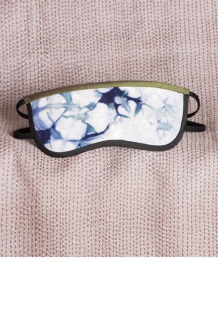 EYEMASK: Wave Silk Shibori  Blue+White