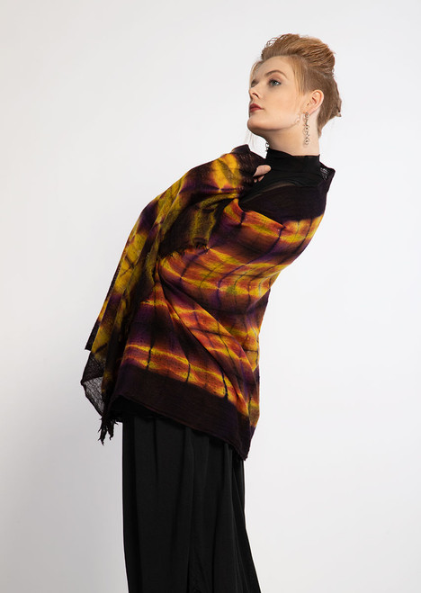 CASHMERE SHAWL: FEATHERWEIGHT - Butterscotch Plaid
