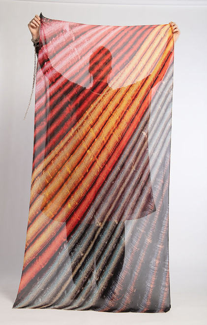 WHISPERING TEXTILES SCARF: Stripe Stacks of Joy
