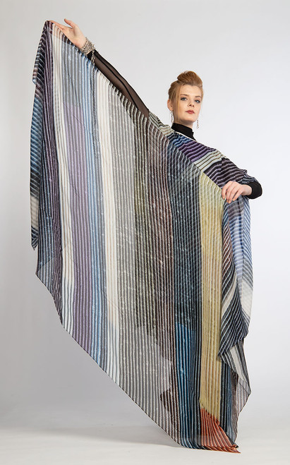 WHISPERING TEXTILES SCARF: Stripes of Compassion