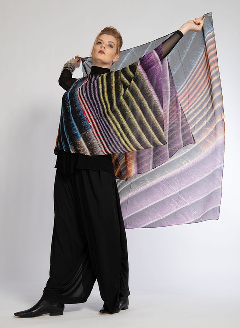 WHISPERING TEXTILES SCARF: Stripes of Happiness