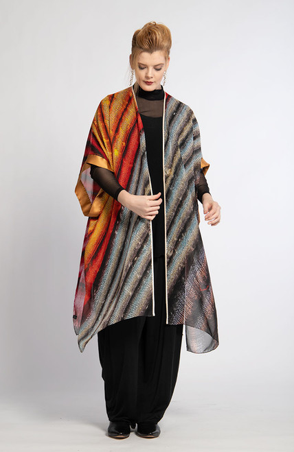 WHISPERING TEXTILES KIMONO: Stripe Stacks of Joy