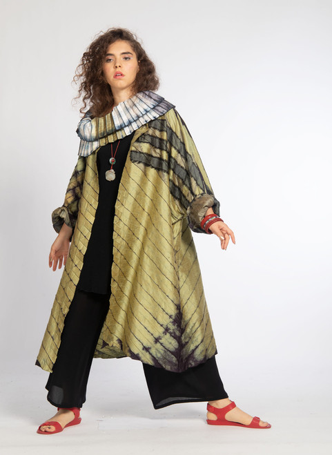 ACCORDION DUSTER: Hip Circle Soft Olive