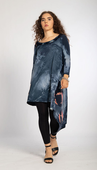 ASYMMETRIC TUNIC: Midnight Cosmic Dust