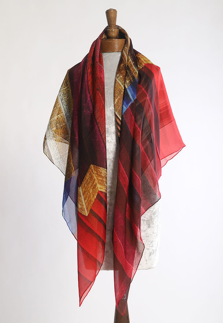 WHISPERING TEXTILES SCARF: Accordion Words of Hope