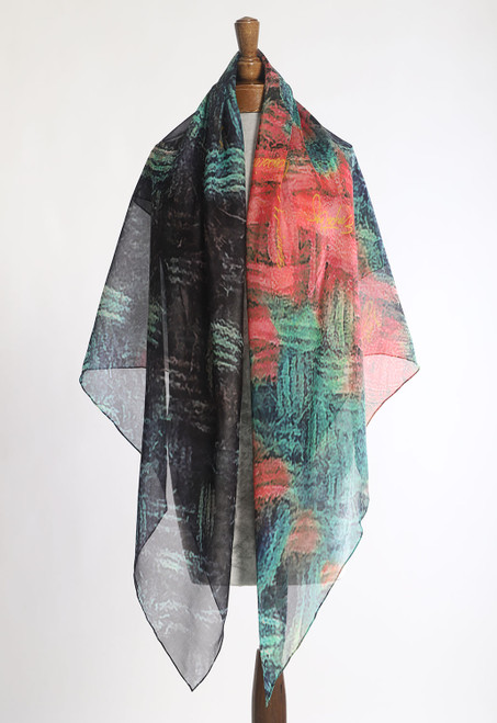 WHISPERING TEXTILES SCARF: Woven Twill with Words of Hope