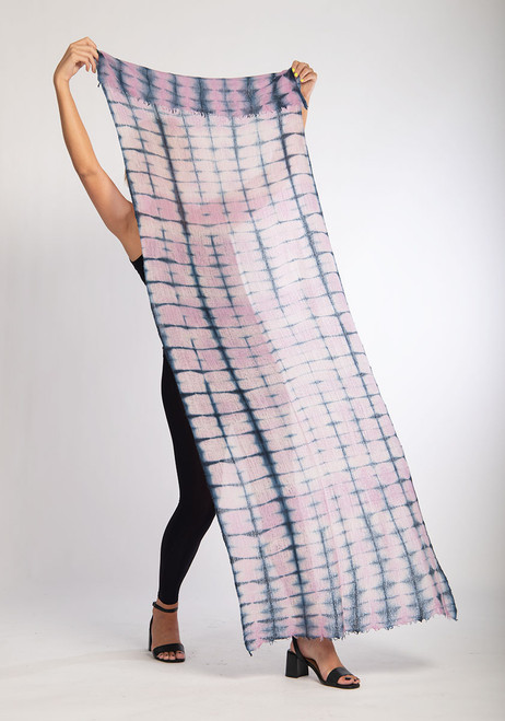 CASHMERE SHAWL: FEATHERWEIGHT: Pink Rectangular Illusions   SOLD - NO LONGER AVAILABLE