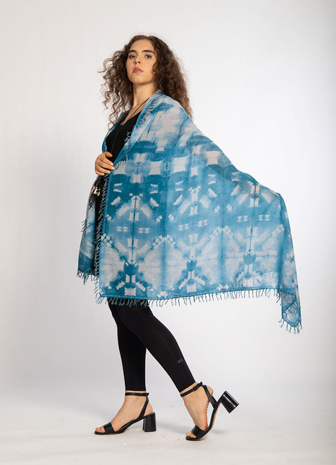 KHADI SQUARES: Aqua Liquid Clouds