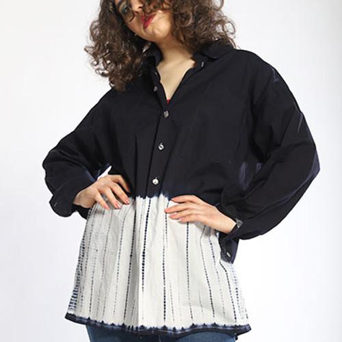 Shibori Border Shirt