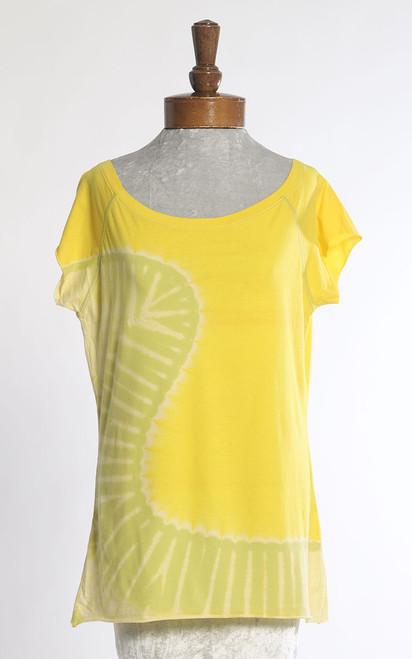 BATEAU T-SHIRT: Lemon-Lime Curve  (large)