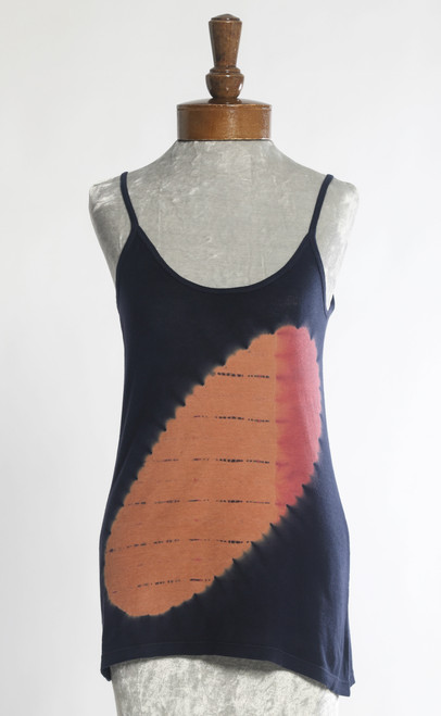 TANK TOP T-SHIRT:  Solar Eclipse   Taupe+Rose (Small)
