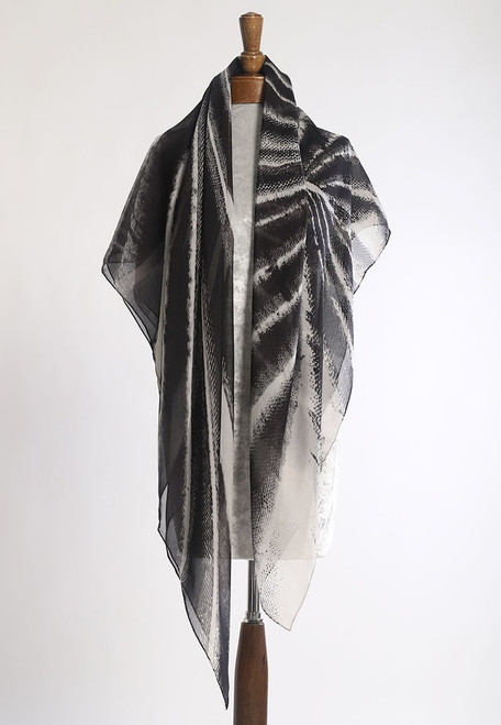 WHISPERING TEXTILES SCARF: Spinal Shadows of Courage
