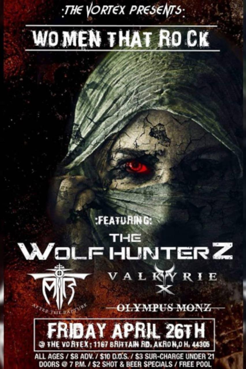 General Admission - Women That Rock April 26th ! The Wolf Hunterz Headline  @ The Vortex - 2019-04-26