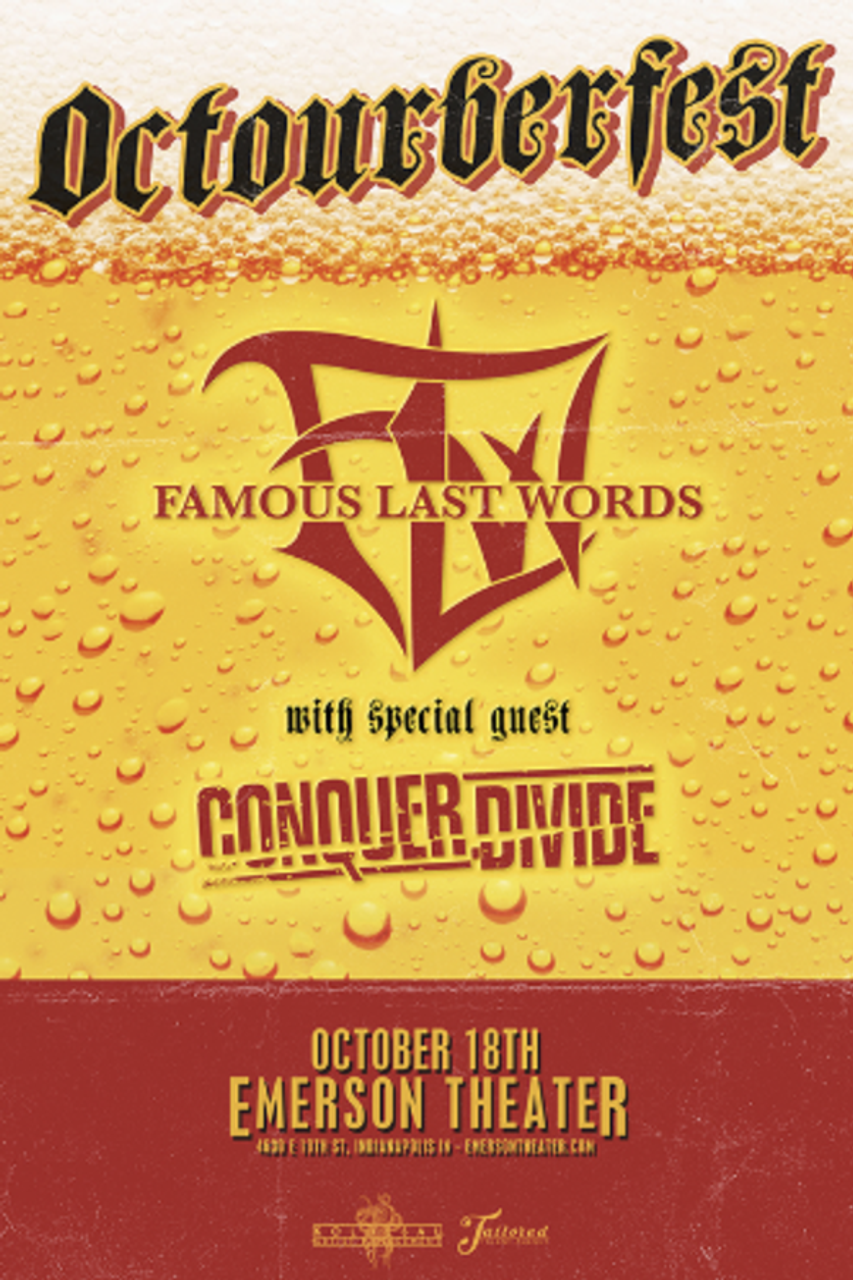 General Admission - Famous Last Words @ Emerson Theater - 2017-10-18