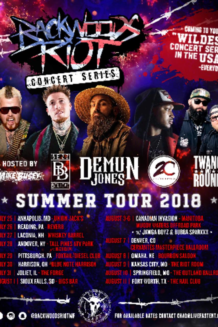 Early Bird - Backwoods Riot Concert Series in Springfield, MO @ Outland  Ballroom - 2018-08-10