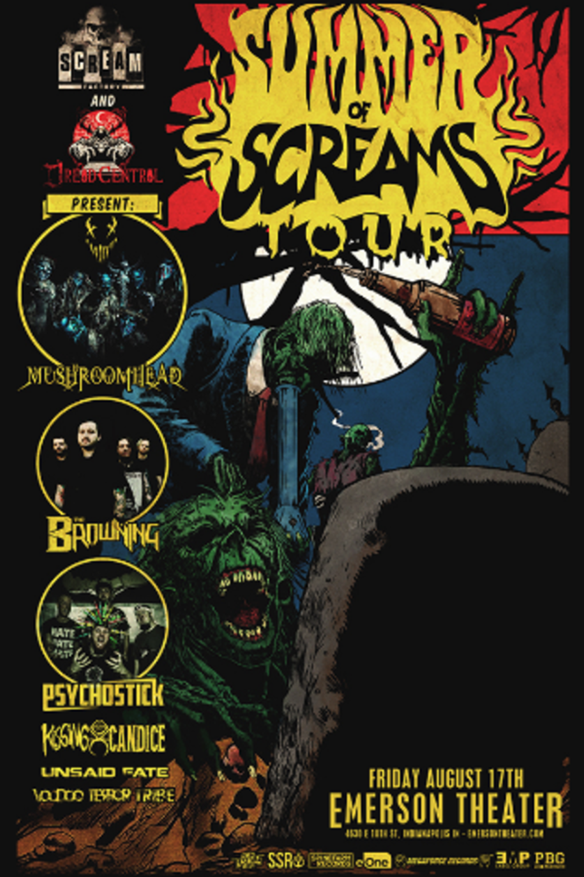 Early Entry Ticket - Summer of Screams Tour ft  Mushroomhead @ Emerson  Theater - 2018-08-17