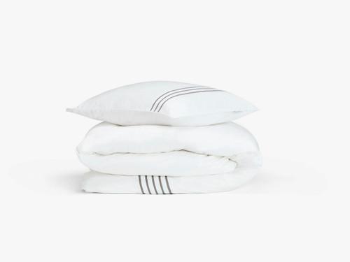 Stiltje duvet cover set, single, white