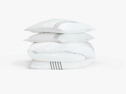 Stiltje duvet cover set, double, white
