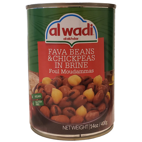 Al Wadi Fava Beans & Chickpeas In Brine (Foul Moudammas) 14 oz