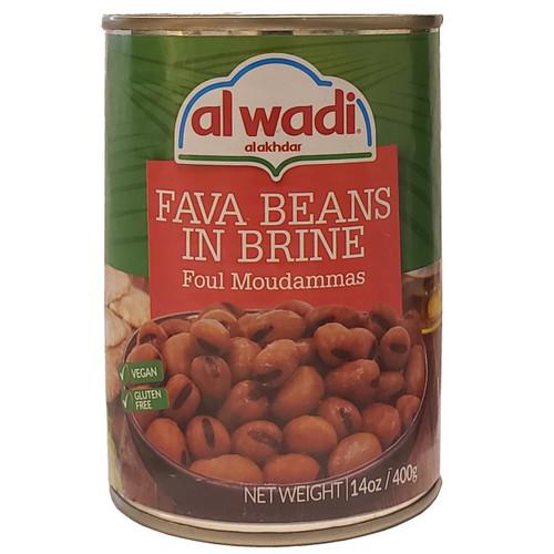 Al Wadi Foul Modammas (Fava Beans) 14 oz فول مدمس (فول مدمس) سادة