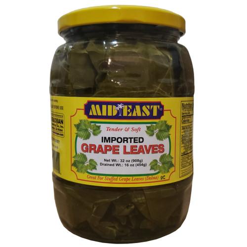 Mid East Grape Leaves 32 Oz أوراق العنب