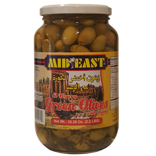 Mid East Green Olives w/Zaatar 1Kg