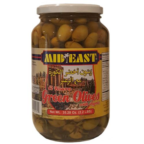 Mid East Green Olives w/Zaatar 1Kg