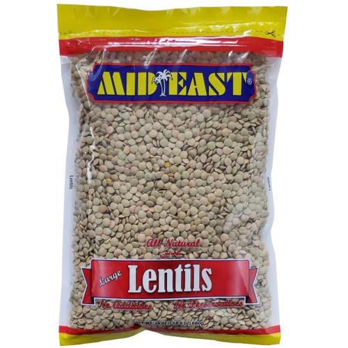 Mid East Large Lentils 24 oz