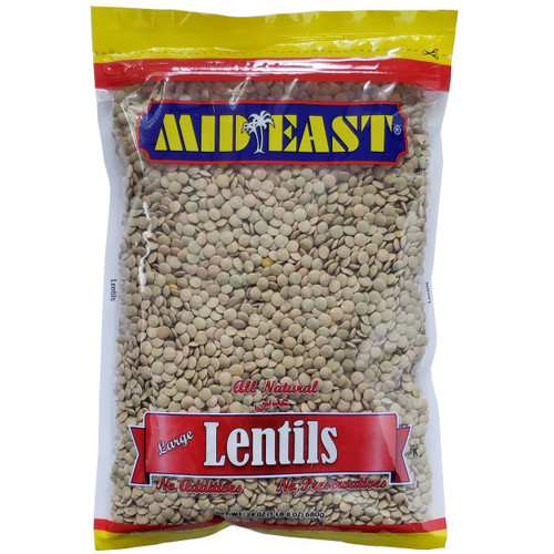Mid East Large Lentils 24 oz عدس أخضر كبير