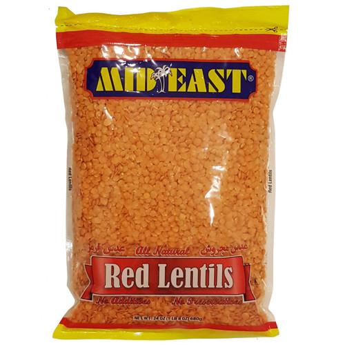 Mid East Red Lentils Domestic 24oz