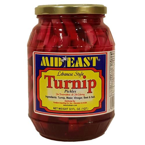 Mid East Turnip Pickles 32 oz