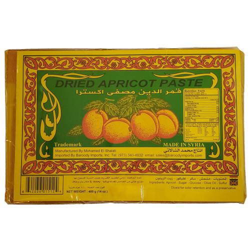 "Shalati Dried Apricot Paste 14oz رقائق قمر الدين ""المشمش""  مصفى اكسترا"