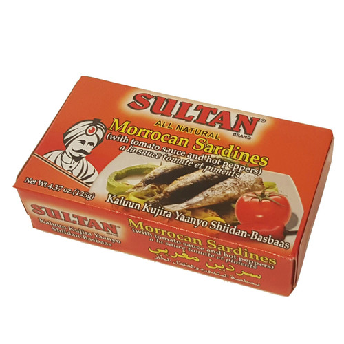 Sultan Sardine With Tomato Suace And Hot Peppers 4.37 oz