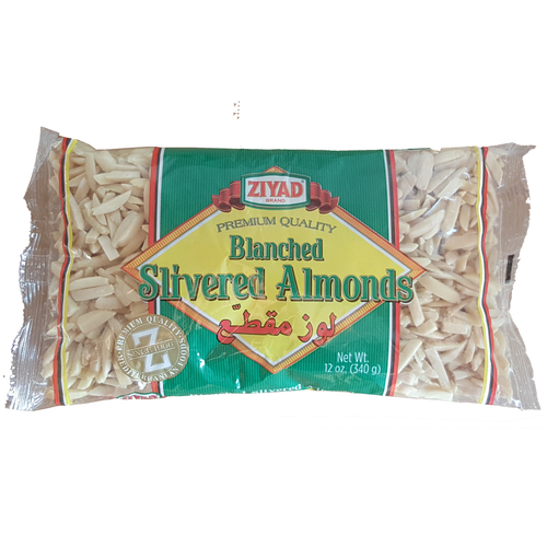 Ziyad Blanched Silvered Almonds 12oz (340g)