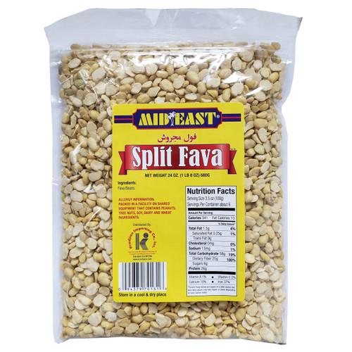 Mid East Split Fava Beans 1.5 lbs, 680 g فول مجروش
