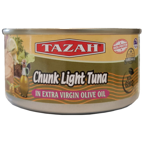 Tazah Chunk Light Tuna In Extra Virgin Olive Oil 6.5 oz
