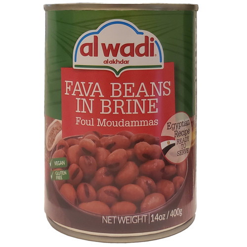 Al Wadi Fava Beans In Brine ( Foul Moudammas ) Egyptian Recipe 14oa