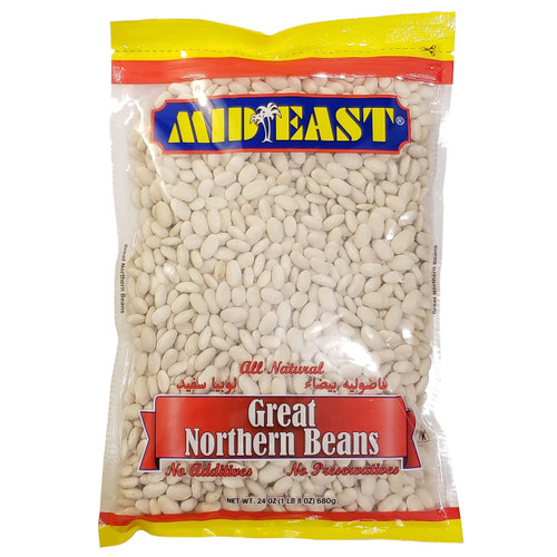 Mid East Great Northern Beans 24 oz