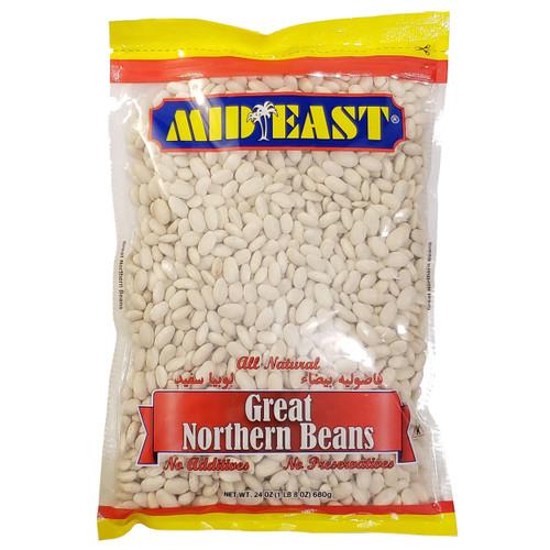 Mid East Great Northern Beans 24 oz فاصوليا بيضاء