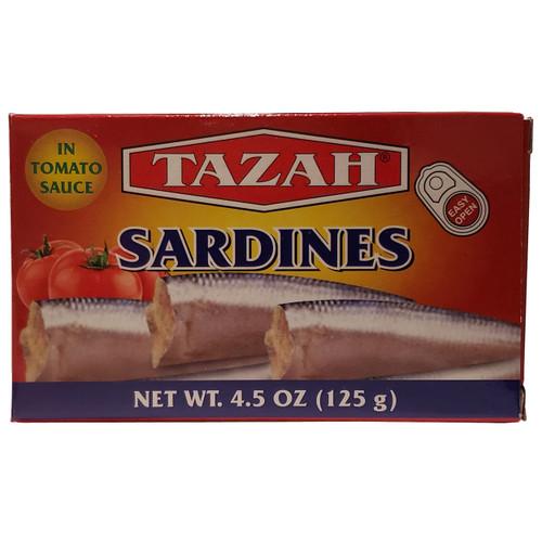 Tazah Sardines In Tomato Sauce 4.5oz ( 125g ) سردين بصلصة الطماطم