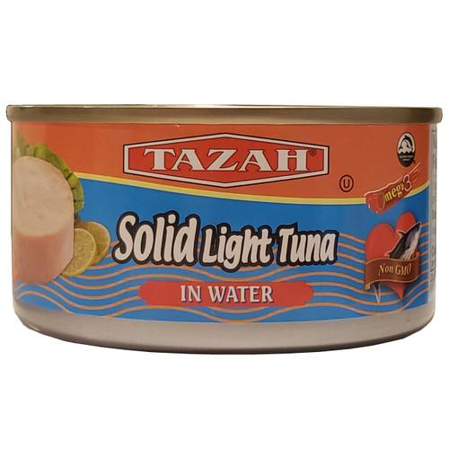 Tazah Solid Light Tuna In Water 6.5 oz ( 185g ) تونة خفيفة صلبة في الماء